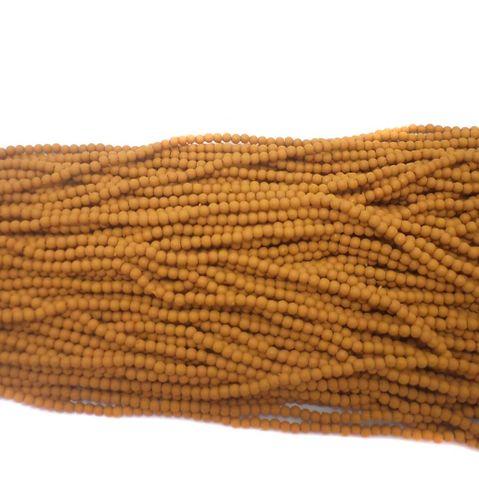 24 Strings Acrylic Round Beads Chocolate 3mm