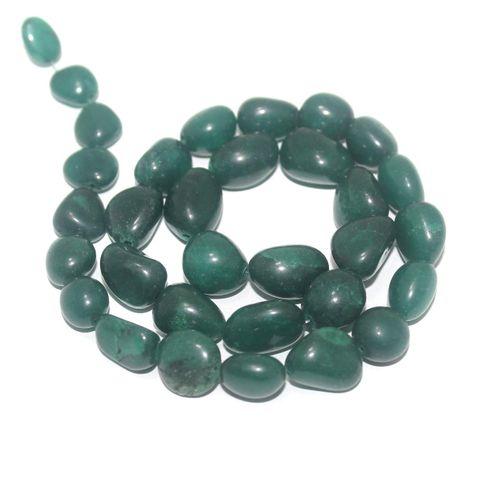 Tumbled Dark Green Diy Stone Beads 14-10 mm