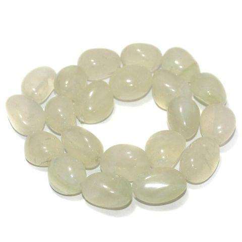 Tumbled Light Peridot Onyx Stone Beads 20-15 mm