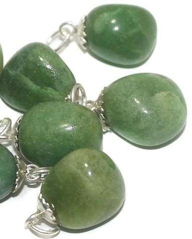 10 Pcs. Light Green Diy Stone Pendants 22x15 mm