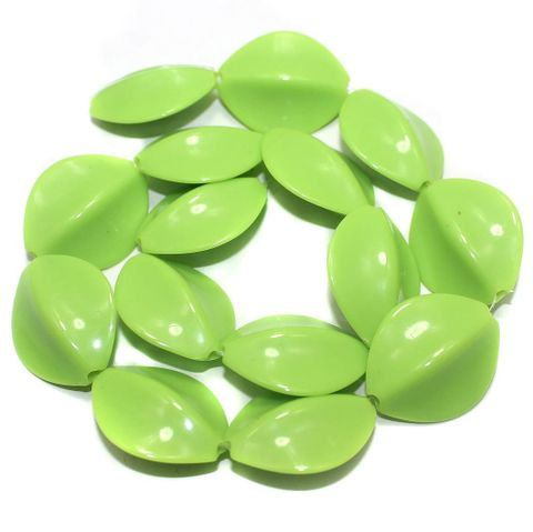 2 StringsAcrylic Neon Flat Tumble Beads Pridot 28x23mm