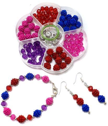 Kids Jewellery Making Acrylic Crystal Beads DIY Kit