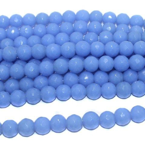 25+ Faceted Glass Round Beads Royal Blue 12 mm