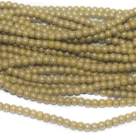 mehndi Luster glass round beads 4mm 12 Strings