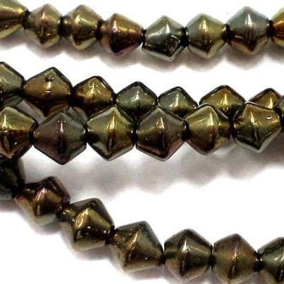 5 Strings Glass RONDELLE Beads [GD] 8 mm