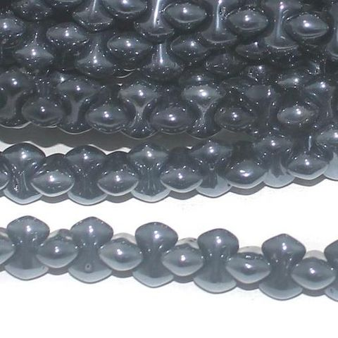 Black Luster glass Bamboo beads 9x5mm 12 Strings