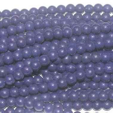 Fire Polish Round Beads Blue 3mm 10 Strings