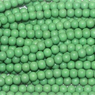 Fire Polish Round Beads Parrot Green 3mm 10 Strings