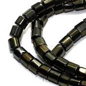 5 Strings Faceted Tyre Beads GD 4 mm