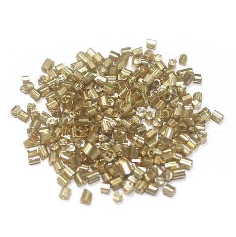 2 Cut Seed Beads Metallic Golden (100 Gm), Size 11/0