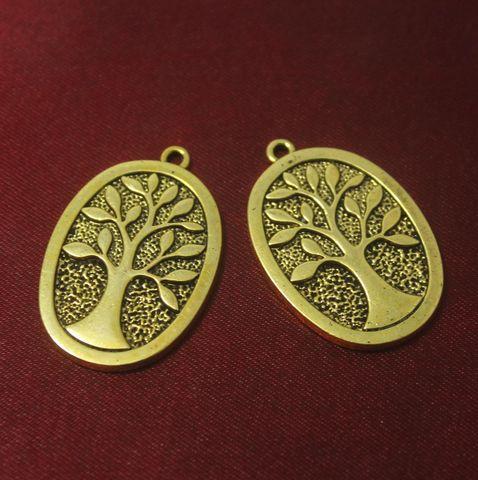 10 Pcs. German Silver Golden Pendants 38x26 mm
