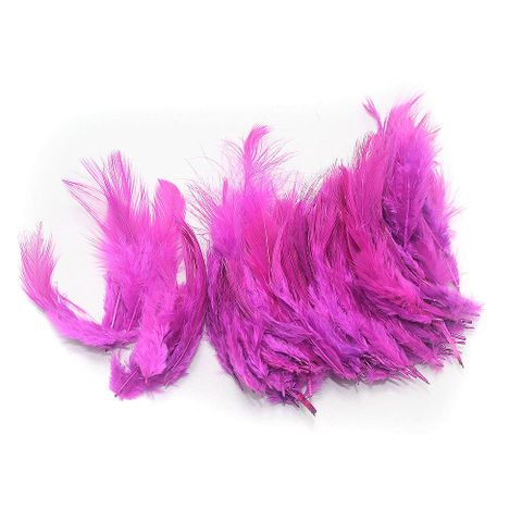 100 Jewellery Making Feather magenta