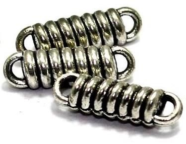 60 German Silver Beads 14x3mm
