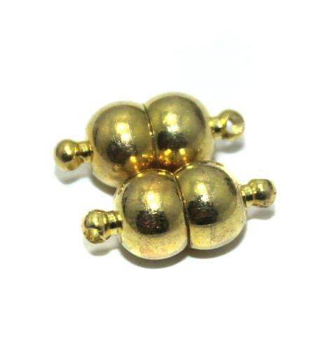 Magnetic Clasps, Size 17x8mm, Pack of 10 Pcs