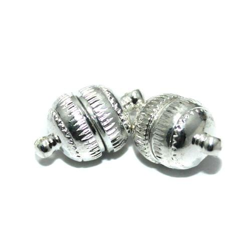 Magnetic Clasps, Size 17x10.5mm, Pack of 10 Pcs