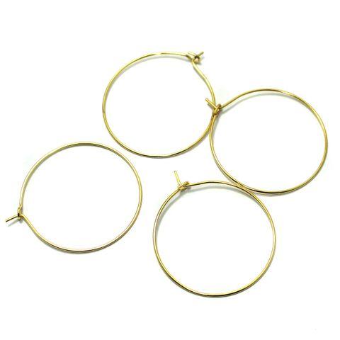 German Silver Golden Earring Components 50 Pcs 40x36mm