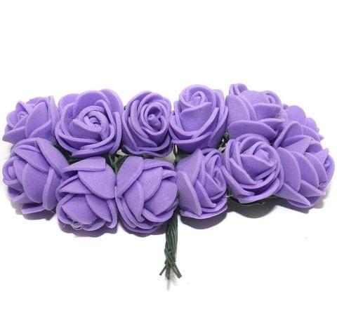 12 Craft Flower Purple 18x14mm