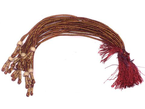 Set of 10 Dozen ZAri Necklace Dori red 12 inch