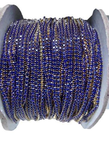 2MM Blue Color Stone Lace - 10meters length