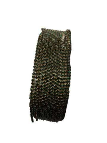 2MM Green Color Stone Lace - 10meters length