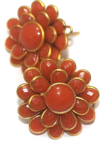Double Layer PACCHI EARRINg Orange 20X20 mm