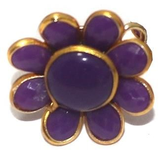 10 PAIRS PACCHI EARRING Purple 14X14 MM