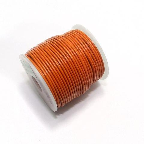 Jewellery Making Leather Cord 1mm Orange-25 Mtr