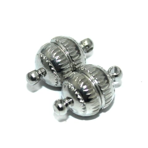 Magnetic Clasps, Size 18x10mm, Pack of 10 Pcs