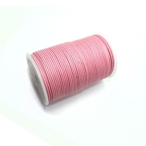 100 Mtrs. Jewellery Making Cotton Cord Pink 2mm
