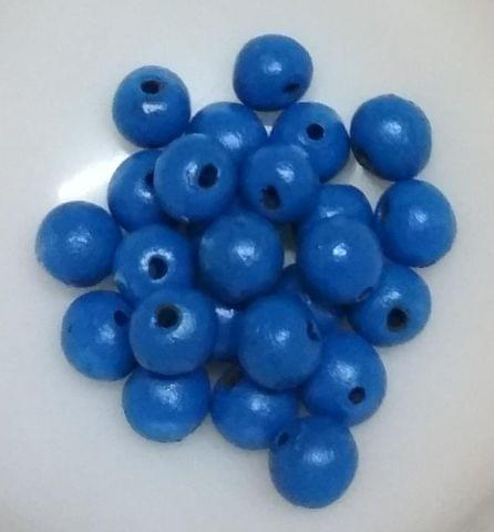 100 pcs Blue Terracotta 10mm round beads
