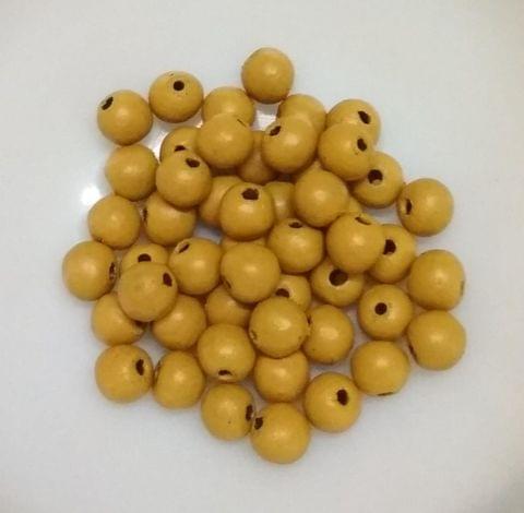 100 pcs Mustard Yellow Terracotta 7mm round beads