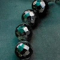 15+ Faceted Glass Round Beads Black 16mm