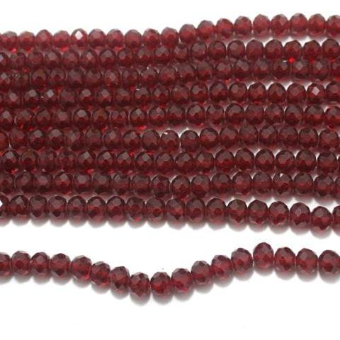 Faceted Crystal Beads Red 10mm 70+ Beads 1 String