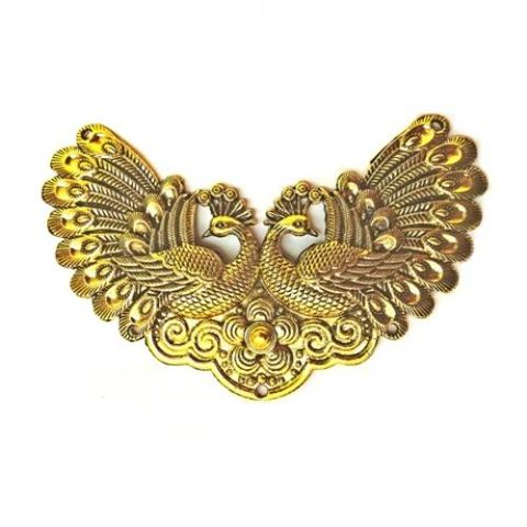 Golden Peacock Pendant Peacocks Pair Design