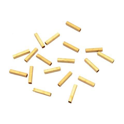 Elongated Brass  Golden   Danglers/ Beads_40Pcs