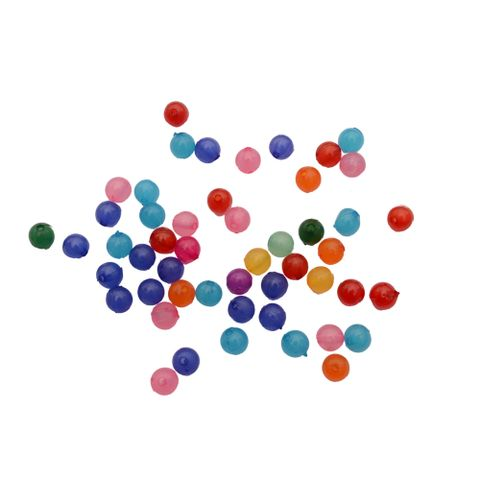 Small Colourful Round Acrylic Beads_100Pcs