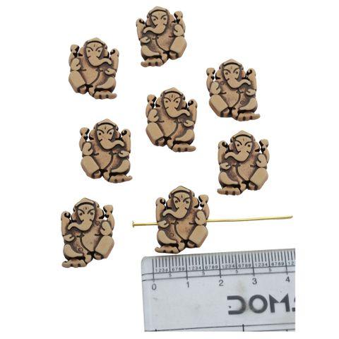Ganesh Engraved Beads (both side)