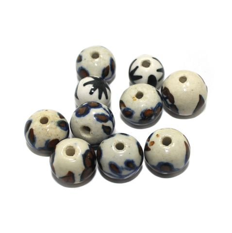 25 Pcs Ceramic Beads Assorted 17x19 mm