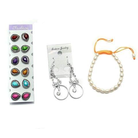 Beadsnfashion Nacklace, Earring & Bracelet Combo Set