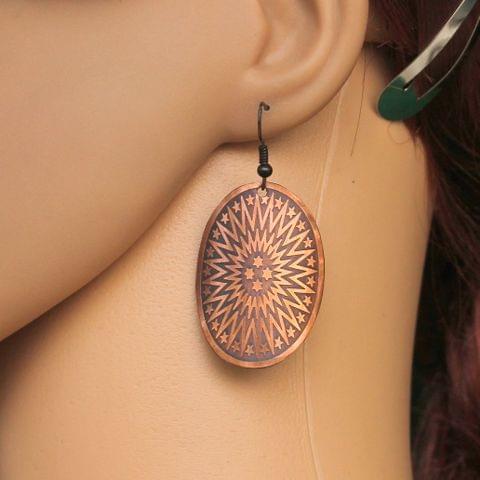 Fashion Metal Earring For Girls Copper