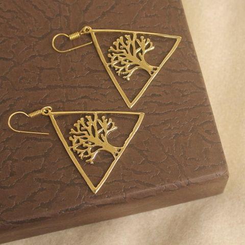 Brass Earring Golden For Girls