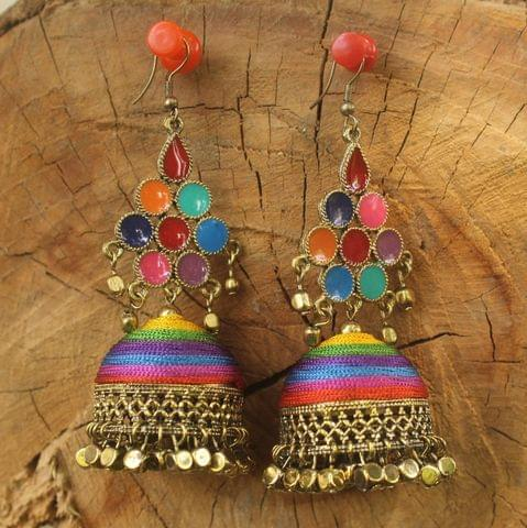 Meenakari Jhumka Earring Multicolor