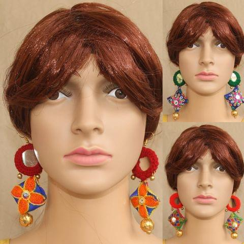Multicolor Designer Earrings Combo