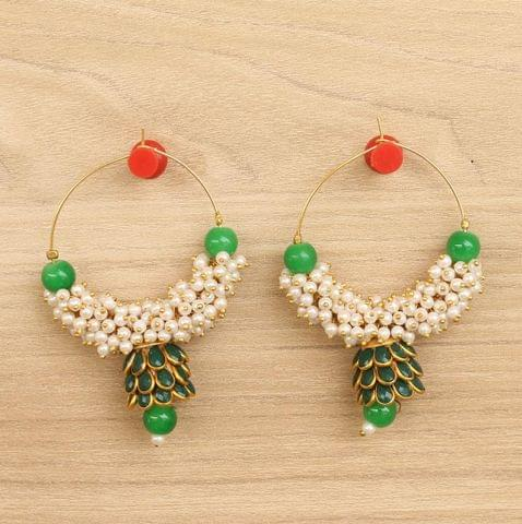 Designer Loreal Pearl Beaded Earrings