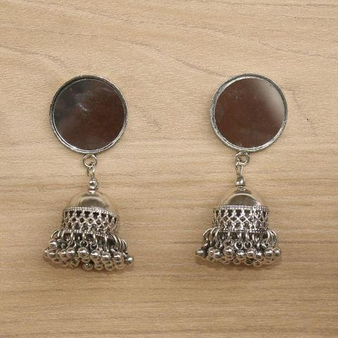 German Silver Mirror Jhumki