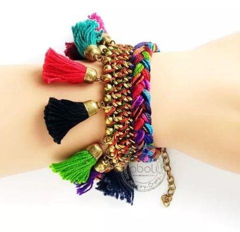 Multicolour Tassel Bracelet Bollywood Inspired Disha Patani