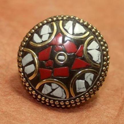 Tibetan Ring Multi color Round
