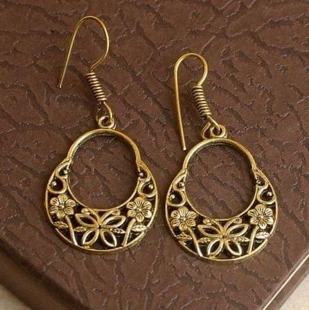 German Silver Chandbali Earring Gold