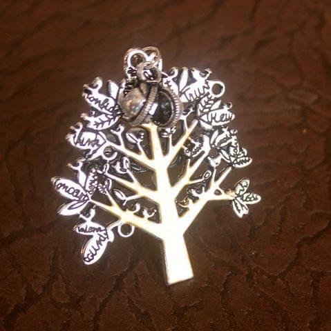 German Silver Dual Tone Tree Adjustable Ring