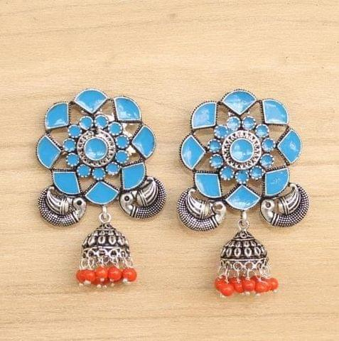German Silver Meenakari Earring